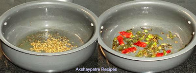 tempering to make dal tadka