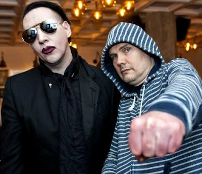 Foto de Billy Corgan con su amigo