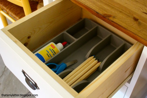 schoolhouse desk drawer