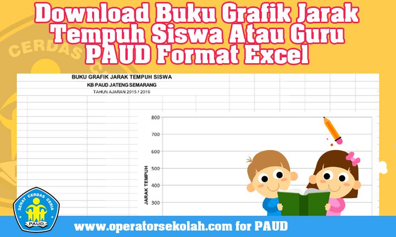 Download Buku Grafik Jarak Tempuh Siswa Atau Guru PAUD Format Excel