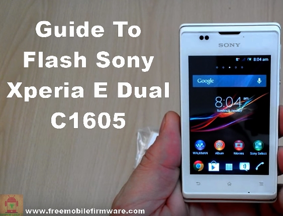 Sony Xperia E Dual C1605 Jelly Bean 4.1.1 Tested Firmware
