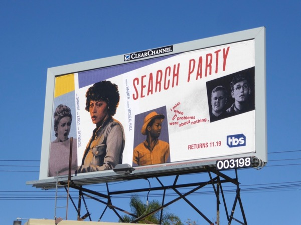 Search Party season 2 billboard