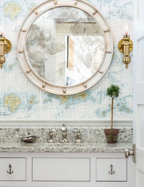 Round Decorative Bathroom Mirror