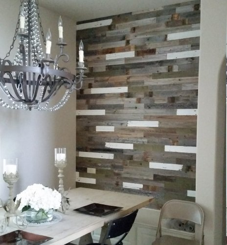 ORDER A SAMPLE PACK http://www.amazon.com/dp/B01B59TNG6 With All Barn Wood's  DIY Reclaimed Wood Wall paneling you can go way past hanging something made  of ... - Box Of 40 Square Feet. Reclaimed Wood Wall Paneling DIY Asst 3