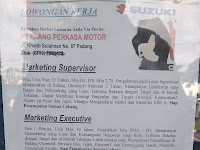 LOWONGAN PADANG MARKETING EXECUTIVE || PT ELANG PERKASA MOTOR !!