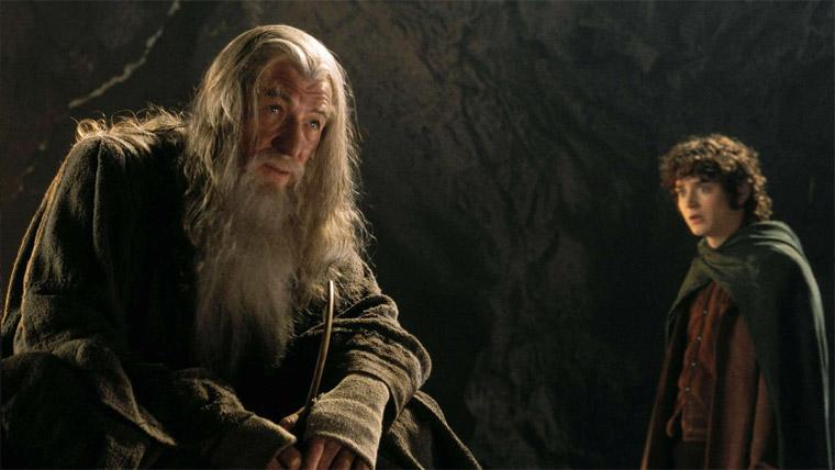 Ian McKellen & Elijah Wood in Der Herr der Ringe - Die Gefährten (Peter Jackson, 2001). Quelle: Warner / New Line Cinema