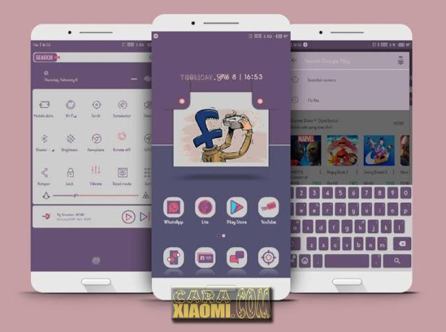 Download MIUI Thema Eirn Purple Mtz For Xiaomi Redmi