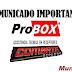 Comunicado oficial Probox sobre o seu FIM