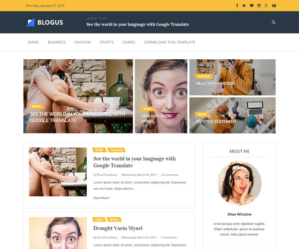 Blogus Template blogspot
