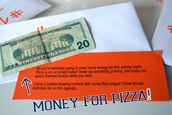 Money for pizza
