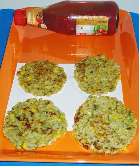 patties in a serving plate
