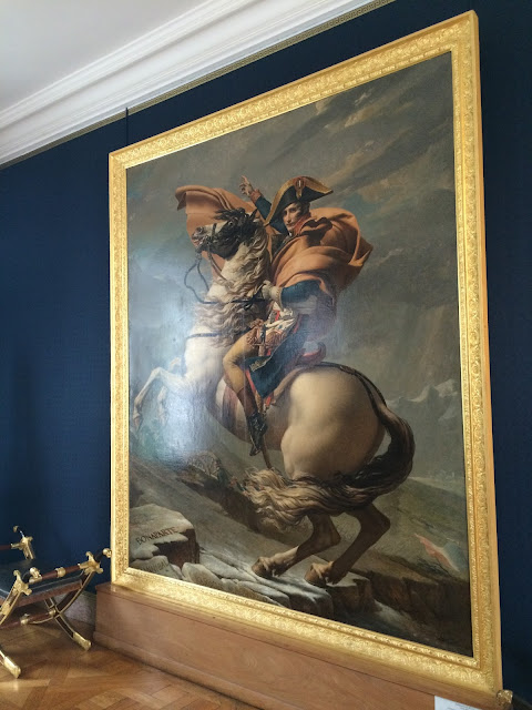 Painting of Napoleon Bonaparte Crossing the Alps, Château de Malmaison, France
