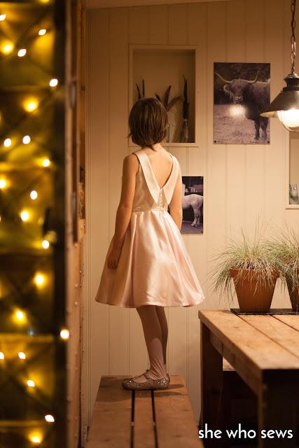 Vintage style dress with deep v-back