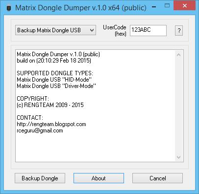 RENGTEAM: Matrix Dongle USB dongle dumper v 1 0