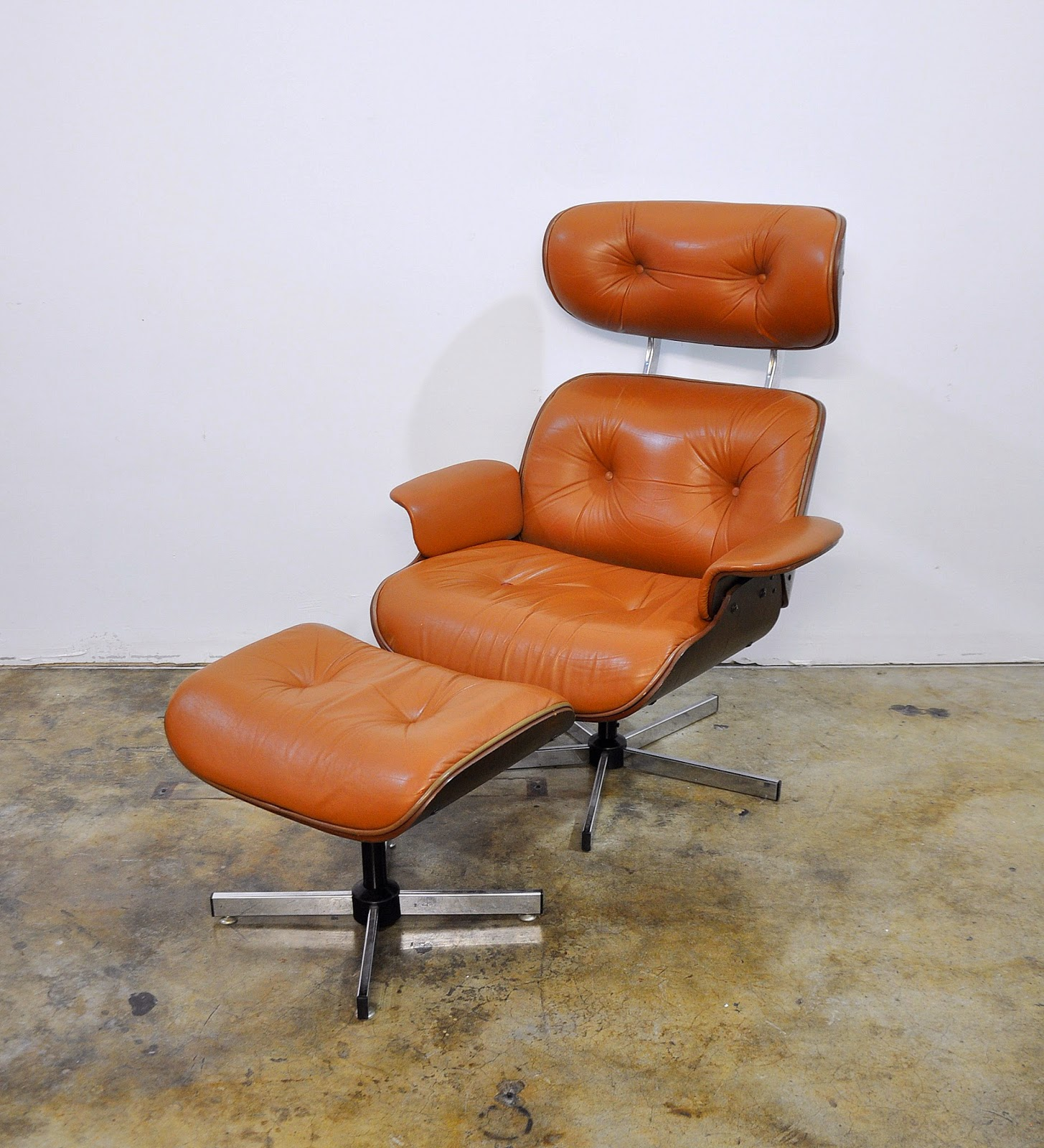 Selig Plycraft Lounge Chair Parts Folding For Bathroom Select Modern Eames Leather And Ottoman