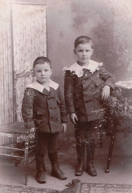 Unidentified boys in photo album of Mary Frances Jollett Davis