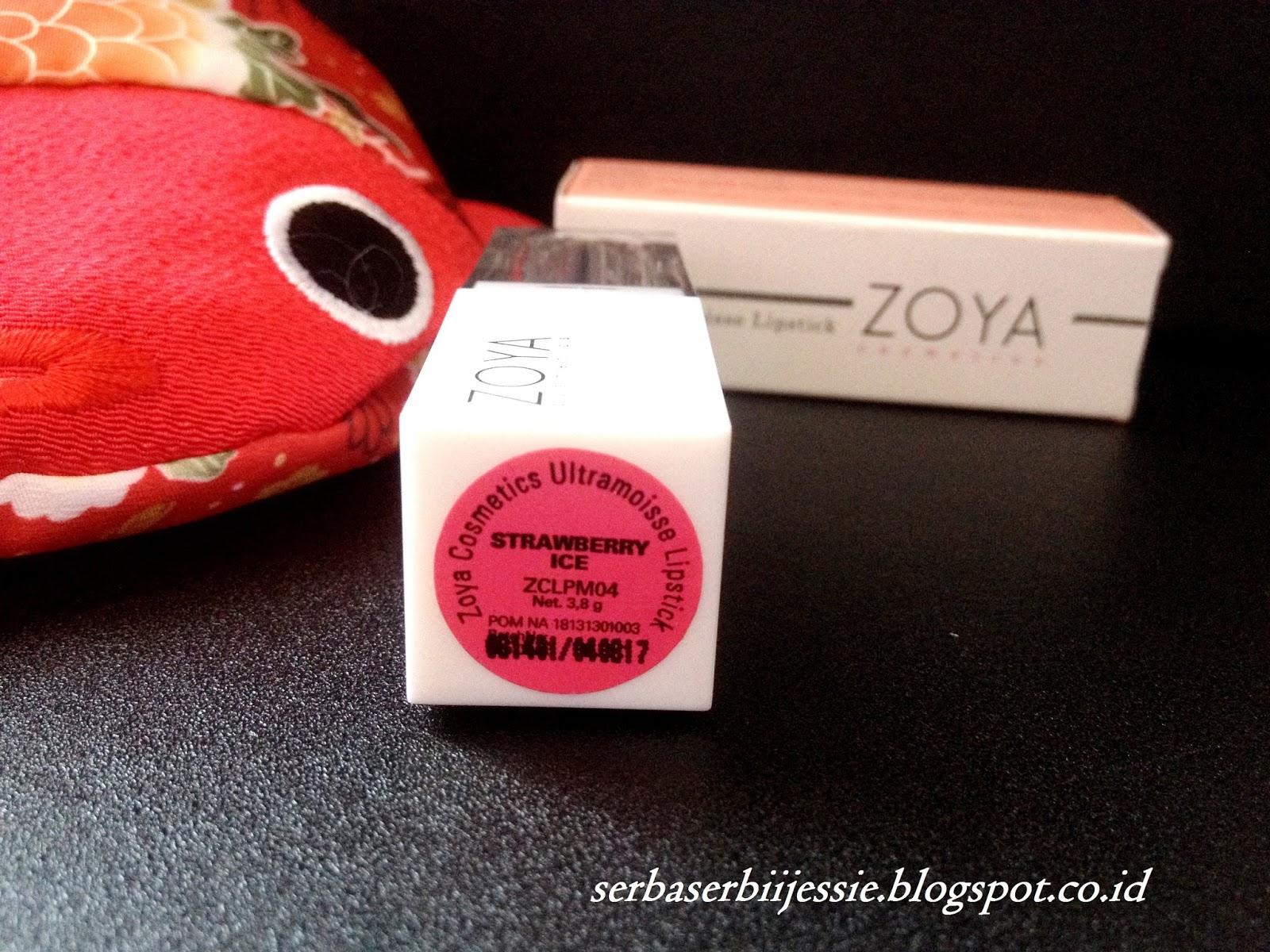 Zoya Cosmetics Ultramoisse Lip Strawbeery Ice 044 Daftar Harga Lipstick 18 Pinnacota 321363 Shade Strawberry