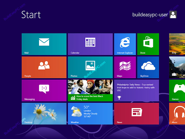 Cara Menginstal Windows 8 pada laptop / komputer (Tampilan Desktop)