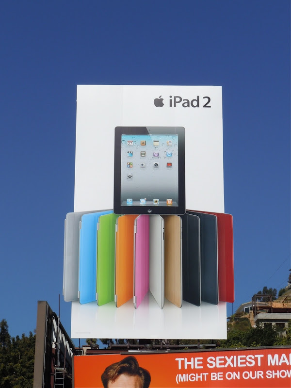 Vibrant iPad 2 billboard