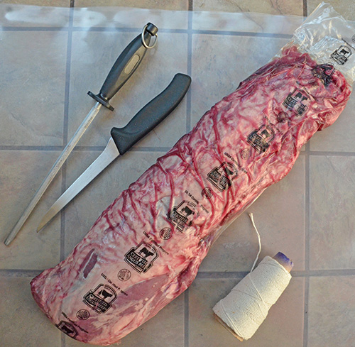 How to trim a Certified Angus Beef whole tenderloin #gorare #bestbeef