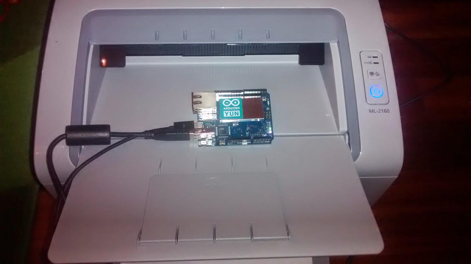 Debian su hardware obsoleto: Stampante WiFi con Arduino YUN