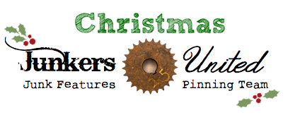 Christmas Junkers United, A Vintage Sled, A Holiday Mantel and a Link Party!