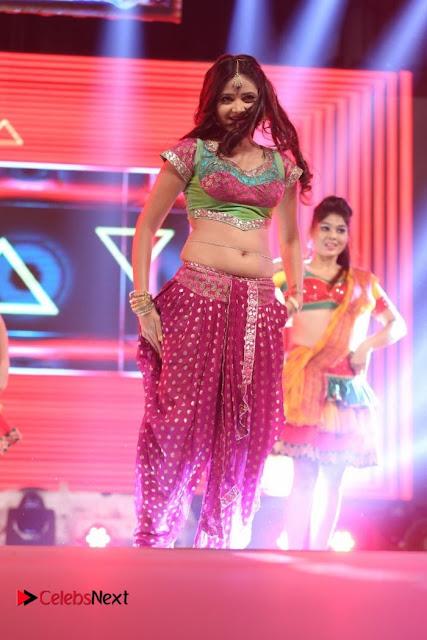 Shreya Vyas  Belly  and Choli WOW on Stage Dance Performance at Janatha Garage Music Release