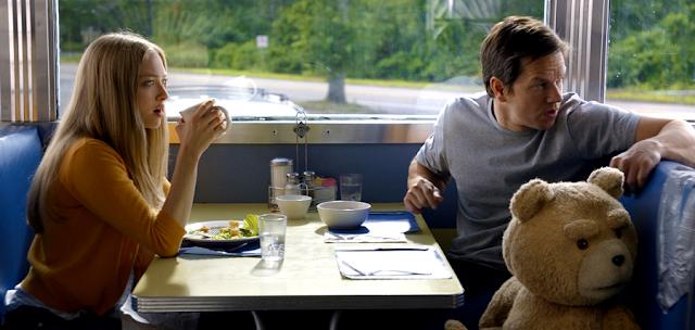 Seth MacFarlane, Mark Wahlberg și Amanda Seyfried în comedia Ted 2