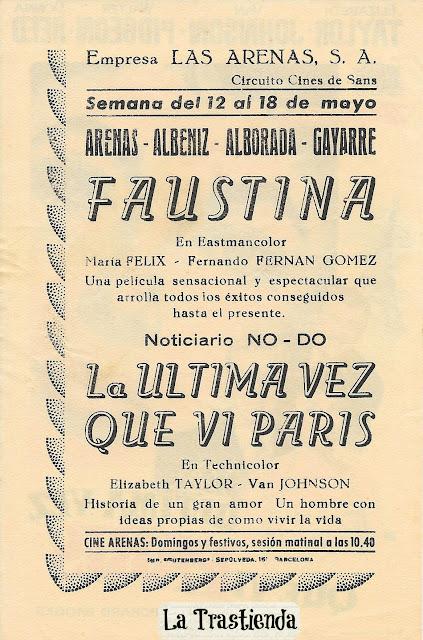 Programa de Cine - La Ultima Vez que ví París - Elisabeth Taylor - Van Johnson