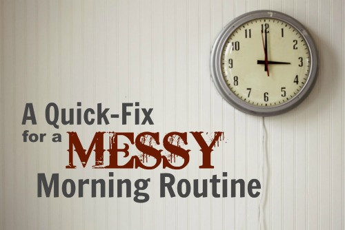 A Quick-fix for a Messy Morning Routine #homeschool #freeprintable