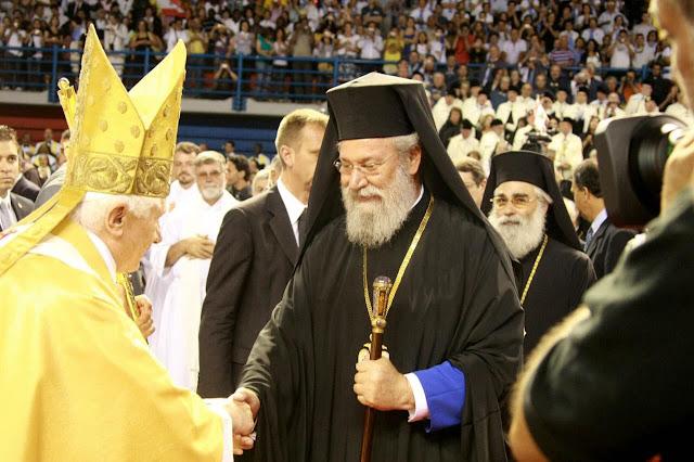 Αποτέλεσμα εικόνας για μασονος Αρχιεπισκόπου Κύπρου Χρυσόστομου