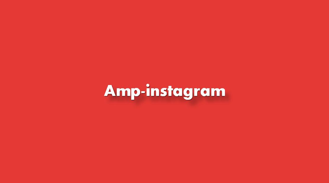 ¿Cómo añadir amp-instagram?