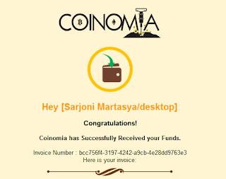 Fund / Deposite Akun Coinomia Pending Penyebab Dan Solusinya