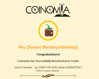 Funding akun coinomia Sukses