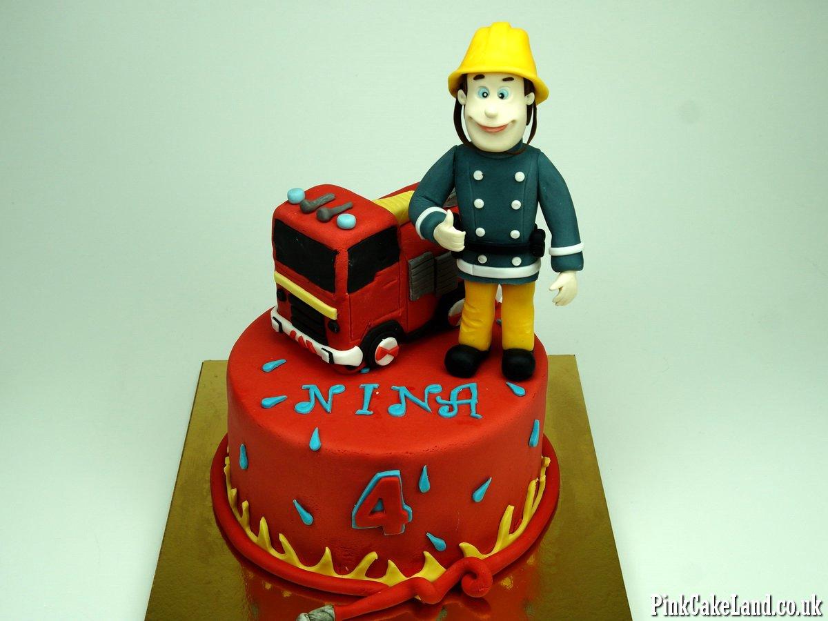 Fireman Sam Cake Delivered In London