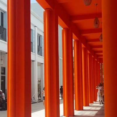Very orange architecture