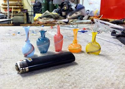 Arte miniatura en vidrio soplado