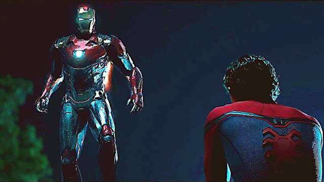 iron man spiderman homecoming