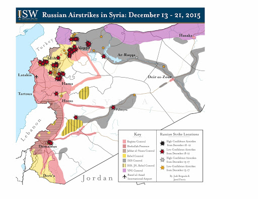 Russian Airstrikes in Syria: December 13 - 21, 2015
