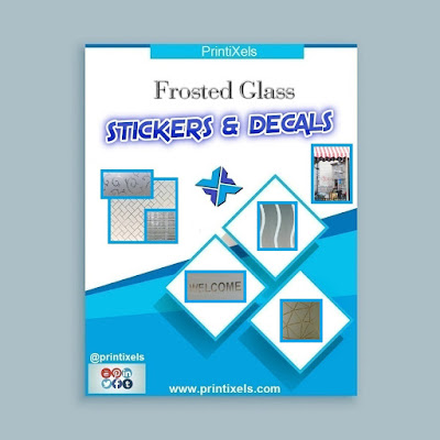 Custom Frosted Glass Stickers & Decals