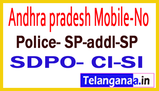 Krishna District Police Officers Mobile Numbers AP State