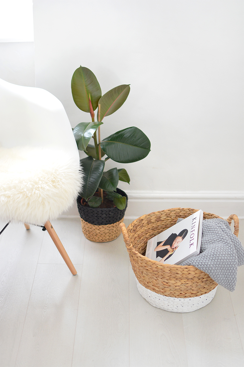 how to paint baskets