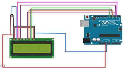 Interface LCD 16x2 ke arduino UNO