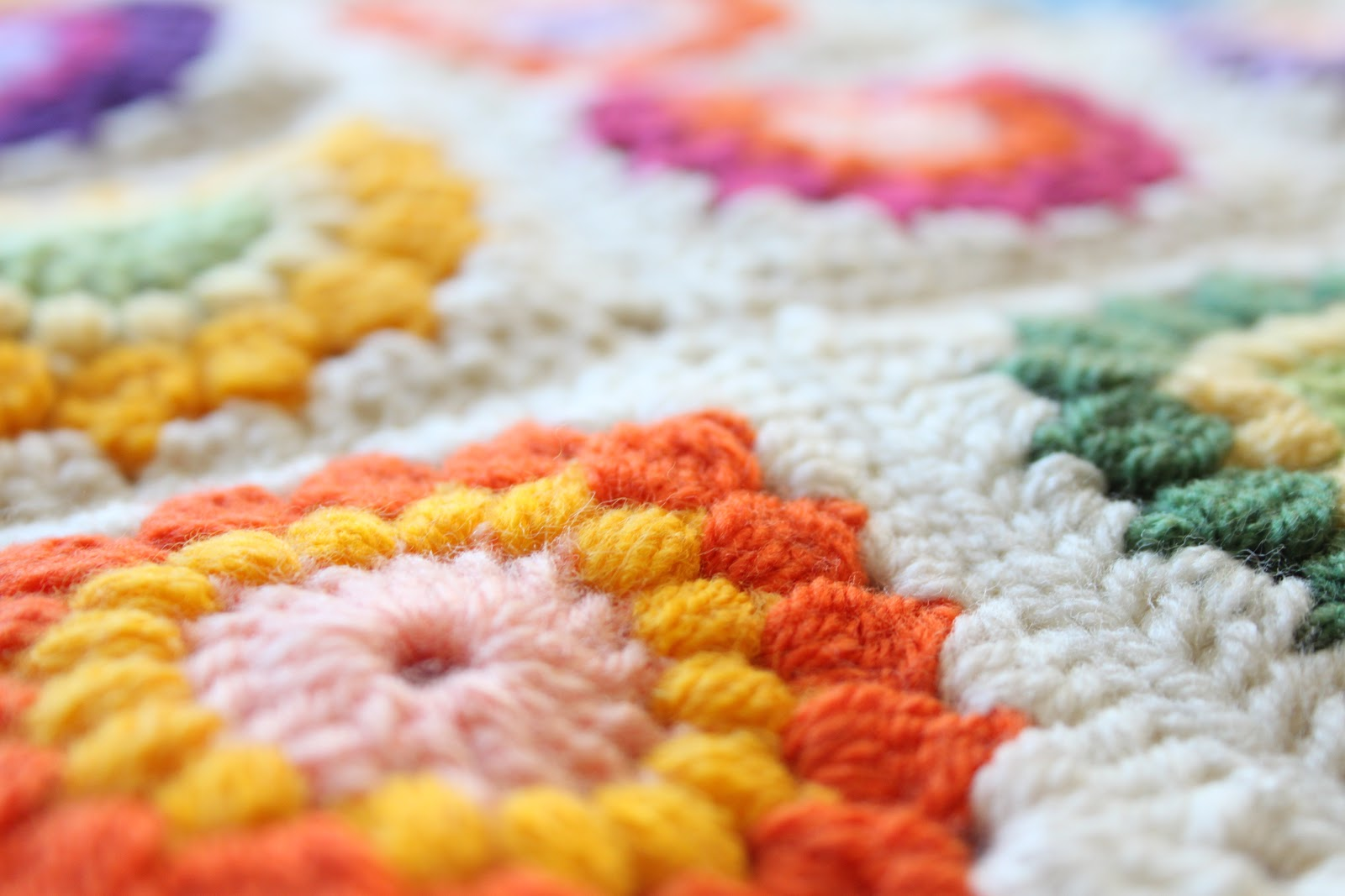 Nittybits Sunburst Granny Square Blanket Tutorial Crochet Patterns With Diagrams Sunday January 6 2013