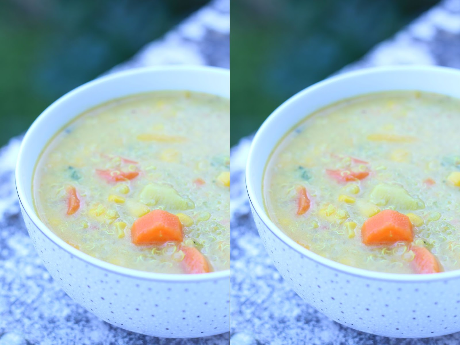 soupe quinoa mais