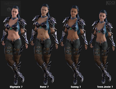 Elf Armor Outfit for Genesis 3 Female