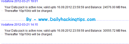 High Tech Zone: Again Vodafone Free Gprs Hacked By Hackingtipszone