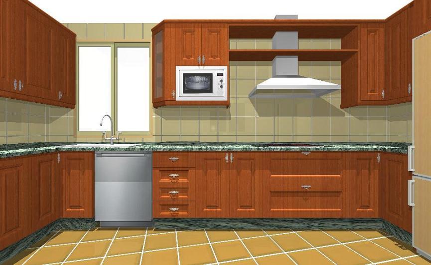 Closet y muebles de madera cocina en madera for Ver cocinas modernas precios