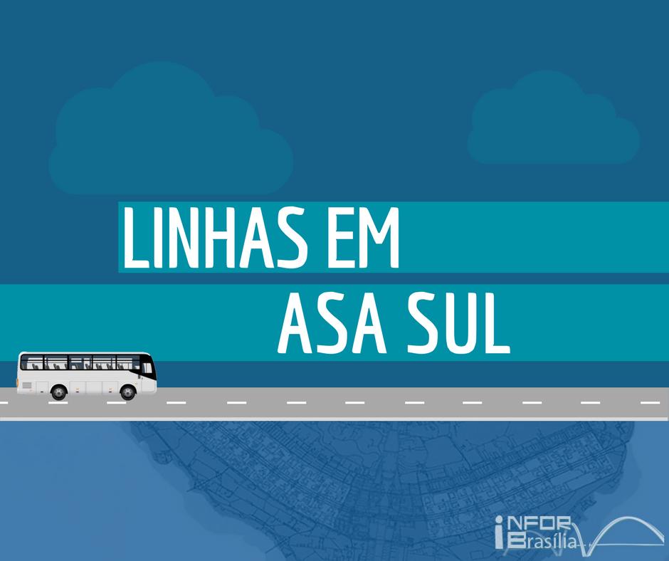 Horário de ônibus das linhas da Asa Sul