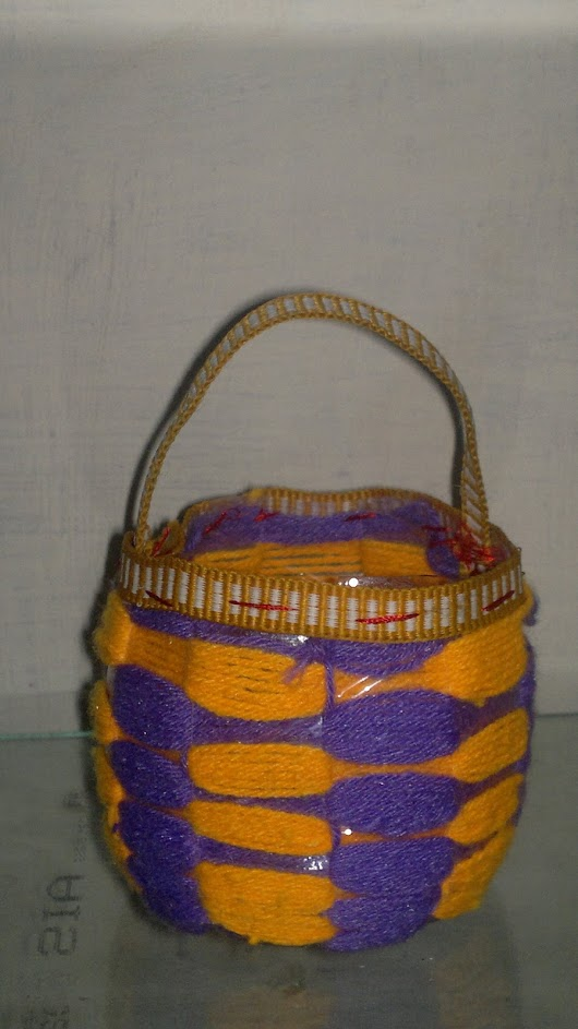 Mini Basket With Waste Water Bottle